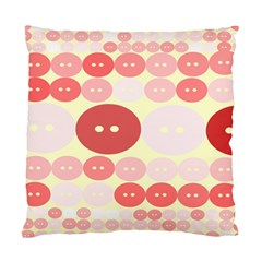 Buttons Pink Red Circle Scrapboo Standard Cushion Case (two Sides)