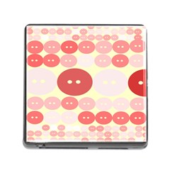 Buttons Pink Red Circle Scrapboo Memory Card Reader (square)