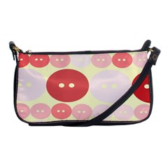 Buttons Pink Red Circle Scrapboo Shoulder Clutch Bags