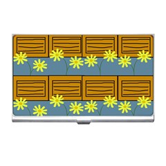 Yellow Flower Floral Sunflower Business Card Holders
