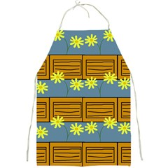 Yellow Flower Floral Sunflower Full Print Aprons
