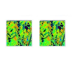 Bow Canopy Height Satelite Map Cufflinks (square)
