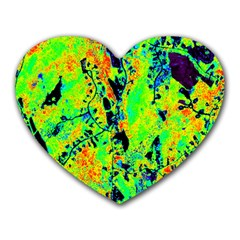 Bow Canopy Height Satelite Map Heart Mousepads
