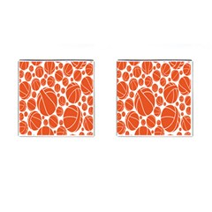 Basketball Ball Orange Sport Cufflinks (square)