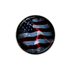 Grunge American Flag Background Hat Clip Ball Marker (10 pack)