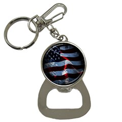 Grunge American Flag Background Button Necklaces