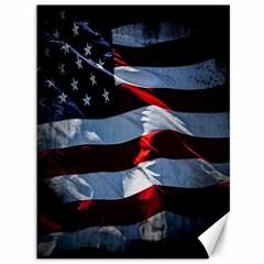 Grunge American Flag Background Canvas 36  X 48