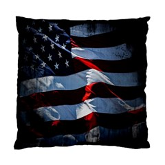 Grunge American Flag Background Standard Cushion Case (two Sides)