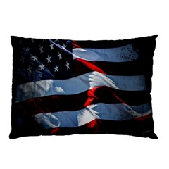Grunge American Flag Background Pillow Case