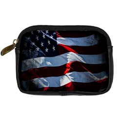 Grunge American Flag Background Digital Camera Cases