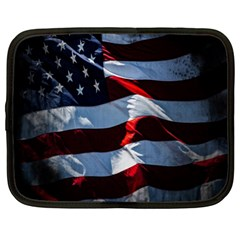 Grunge American Flag Background Netbook Case (XL)