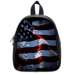 Grunge American Flag Background School Bags (small)