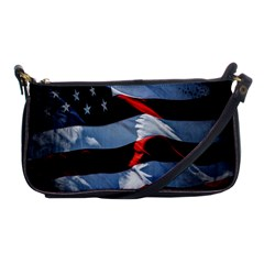 Grunge American Flag Background Shoulder Clutch Bags
