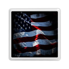 Grunge American Flag Background Memory Card Reader (square)