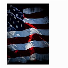 Grunge American Flag Background Small Garden Flag (Two Sides)