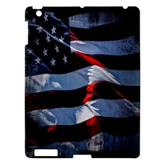 Grunge American Flag Background Apple iPad 3/4 Hardshell Case