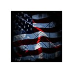 Grunge American Flag Background Acrylic Tangram Puzzle (4  x 4 ) Front