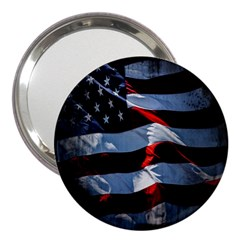 Grunge American Flag Background 3  Handbag Mirrors