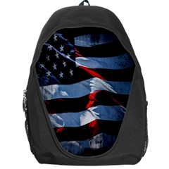 Grunge American Flag Background Backpack Bag