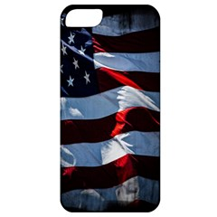 Grunge American Flag Background Apple iPhone 5 Classic Hardshell Case