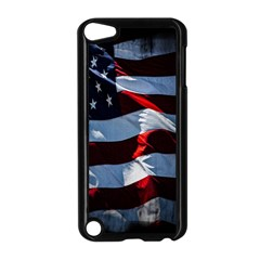 Grunge American Flag Background Apple iPod Touch 5 Case (Black)