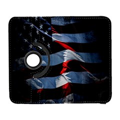 Grunge American Flag Background Galaxy S3 (Flip/Folio)