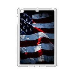 Grunge American Flag Background iPad Mini 2 Enamel Coated Cases
