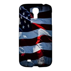 Grunge American Flag Background Samsung Galaxy S4 I9500/I9505 Hardshell Case