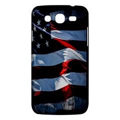 Grunge American Flag Background Samsung Galaxy Mega 5.8 I9152 Hardshell Case