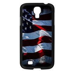 Grunge American Flag Background Samsung Galaxy S4 I9500/ I9505 Case (Black)