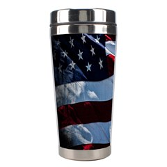 Grunge American Flag Background Stainless Steel Travel Tumblers
