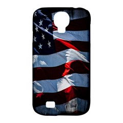 Grunge American Flag Background Samsung Galaxy S4 Classic Hardshell Case (pc+silicone)