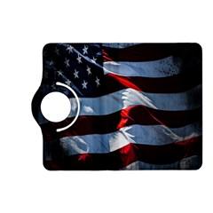 Grunge American Flag Background Kindle Fire HD (2013) Flip 360 Case