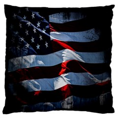 Grunge American Flag Background Large Flano Cushion Case (Two Sides)