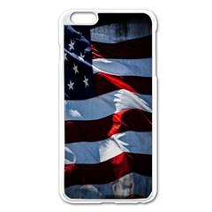 Grunge American Flag Background Apple iPhone 6 Plus/6S Plus Enamel White Case
