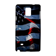 Grunge American Flag Background Samsung Galaxy Note 4 Hardshell Case