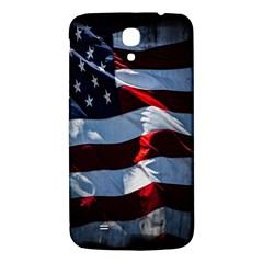 Grunge American Flag Background Samsung Galaxy Mega I9200 Hardshell Back Case