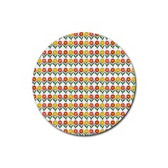 Flowers Rubber Coaster (Round)