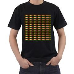 Flowers Men s T-Shirt (Black)