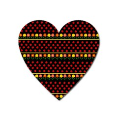 Ladybugs and flowers Heart Magnet