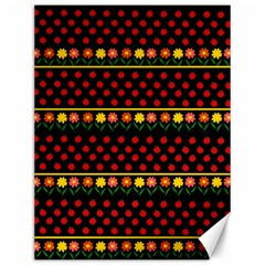 Ladybugs and flowers Canvas 12  x 16