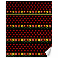 Ladybugs and flowers Canvas 16  x 20