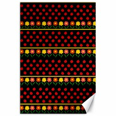 Ladybugs and flowers Canvas 20  x 30
