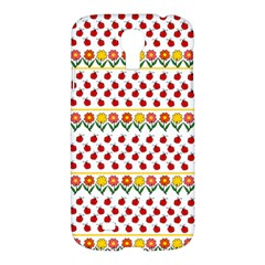 Ladybugs And Flowers Samsung Galaxy S4 I9500/i9505 Hardshell Case