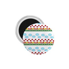 Ladybugs and flowers 1.75  Magnets