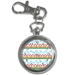 Ladybugs and flowers Key Chain Watches