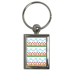Ladybugs and flowers Key Chains (Rectangle)