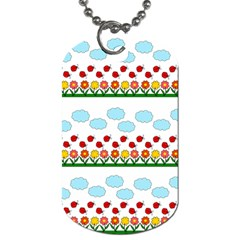 Ladybugs and flowers Dog Tag (Two Sides)