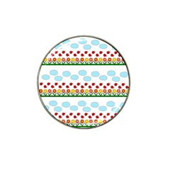 Ladybugs and flowers Hat Clip Ball Marker (4 pack)