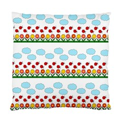 Ladybugs and flowers Standard Cushion Case (One Side)